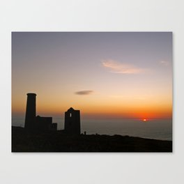 Wheal Coates at Sunset Canvas Print