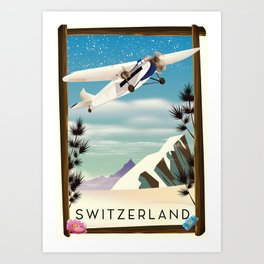 Switzerland travel poster Art Print