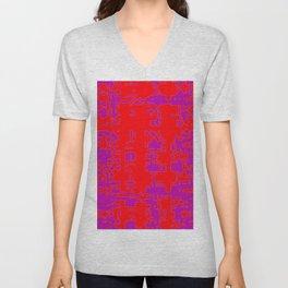 jitter, red violet, 3 Unisex V-Neck