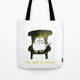 Food should be Imminent (Yellow) Tote Bag