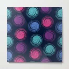 Polka dot pattern with abstract circles Metal Print