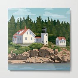 Bass Harbor Lighthouse Maine Metal Print