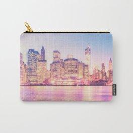 New York City Skyline - Lights Carry-All Pouch