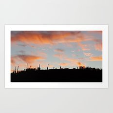 Pink Sunset Art Print