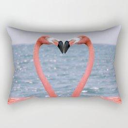 Flamingo Love Rectangular Pillow