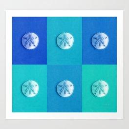 Sand Dollars - multibluegreens! Art Print