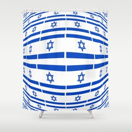 flag of israel 12- יִשְׂרָאֵל ,israeli,Herzl,Jerusalem,Hebrew,Judaism,jew,David,Salomon. Shower Curtain