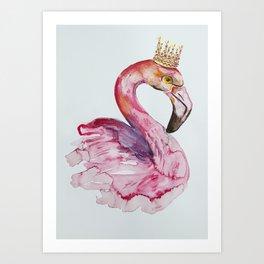 Flamingo crone Art Print
