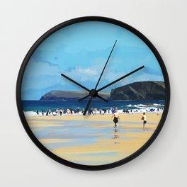 Harlyn Bay, Cornwall, Original Illustration  Wall Clock