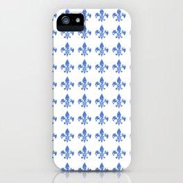 French Blue fleur di li iPhone Case