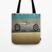 scuba Tote Bags featuring Scuba Driver by Chris Cooch