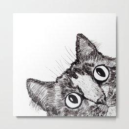 Hey! Cat! Metal Print