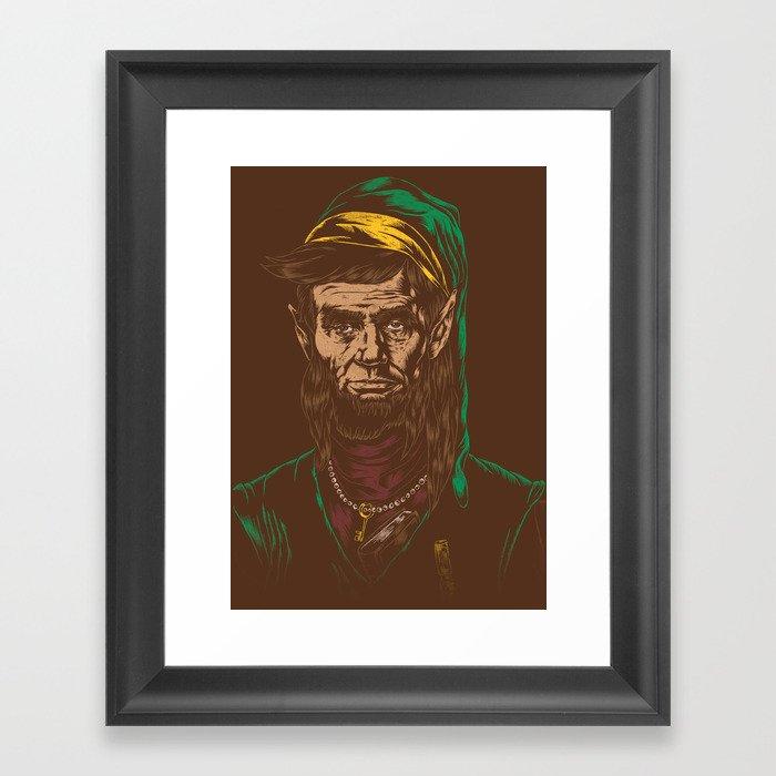 Abraham LINKoln Framed Art Print