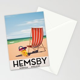 Hemsby Norfolk England vintage train poster. Stationery Cards