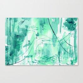 Emerald vibes || watercolor Canvas Print