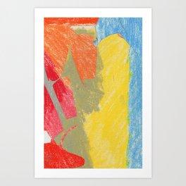 colourful cuttings  Art Print
