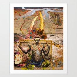"""HEART OF DARKNESS """"The Run Through"""" Art Print"""
