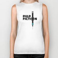 pulp Biker Tanks featuring Pulp Fiction  by Jacob Wise