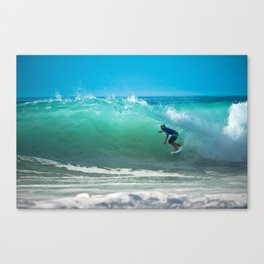 Hossegor Beach, France. Surf World tour Canvas Print