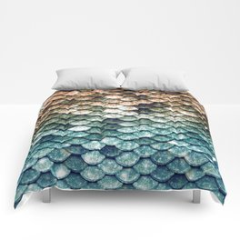 Mermaid Tail Teal Ocean Comforters