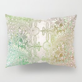 big green leaf lace Pillow Sham