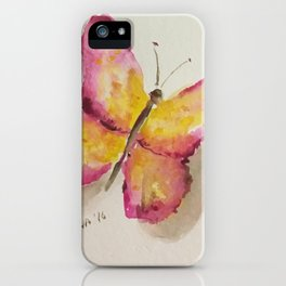Watercolor Butterfly iPhone Case