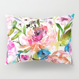 WATERCOLOUR PEONY AND ROSES Pillow Sham