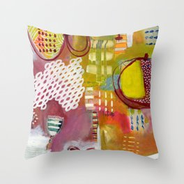 Jellyfish Garden Throw Pillow