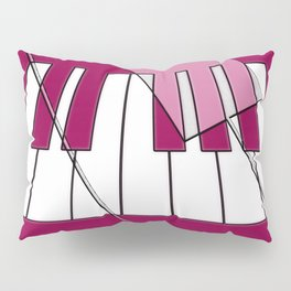 Music Pink 2 Pillow Sham