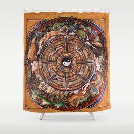 Progress Mandala Shower Curtain