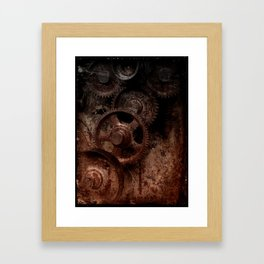 Gear mechanism (half-light) Framed Art Print