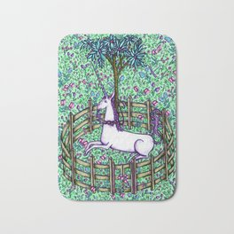 Medieval Unicorn Garden Bath Mat