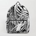 Black and White Vintage Tropical Palm Leaf Pattern by lebensartdesign
