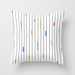 Color & Stripes Throw Pillow
