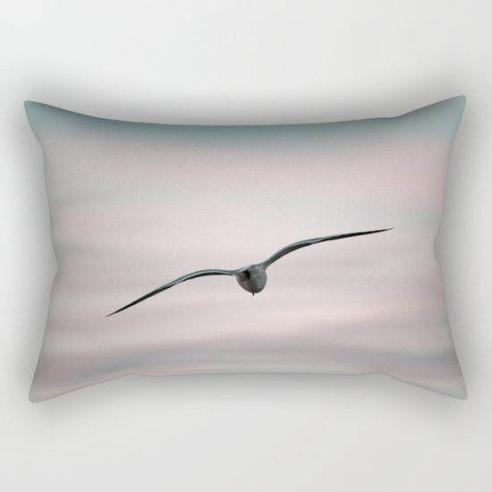 Twilight Seagull Rectangular Pillow