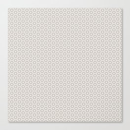 Hexagon Light Gray Pattern Canvas Print