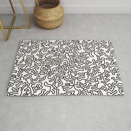 Homage to Keith Haring White Rug