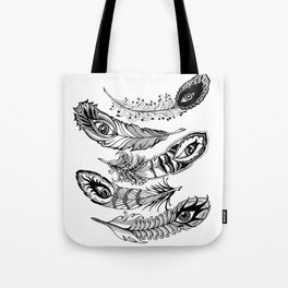 bizarre feathers Tote Bag