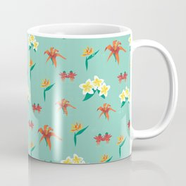 Exotic Vintage Flowers Coffee Mug