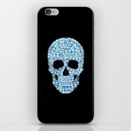 blue skull iPhone Skin