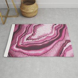 Pink Agate Geode Gemstone Rug