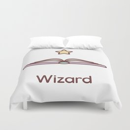 Cute Dungeons and Dragons Wizard class Duvet Cover