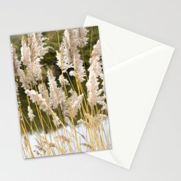 Canal side grass Stationery Cards