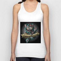 gore Tank Tops featuring Chesire cat gore by trevacristina