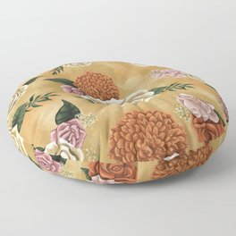 Gold luxury floral Floor Pillow