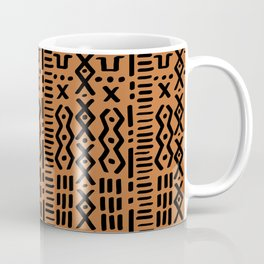 Mudcloth No. 1 in Ochre + Black Coffee Mug