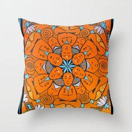 No mind mandala Throw Pillow