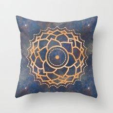 Hippie Mandala Chakra -  Galaxy Stars Space Crown Chakra Design Throw Pillow