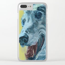 Dilly the Greyhound Portrait Clear iPhone Case