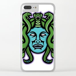 Medusa Greek God Mascot Clear iPhone Case